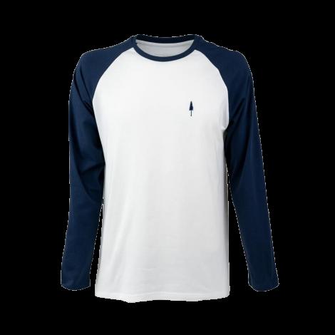 TreeShirt Longsleeve Raglan Unisex Navy-White