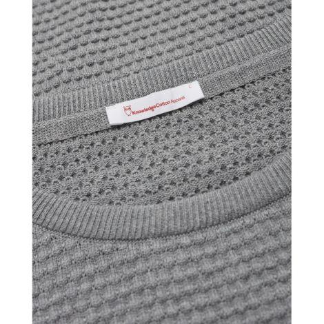 FIELD o-neck sailor knit - GOTS/Vegan 1012 Grey Melange