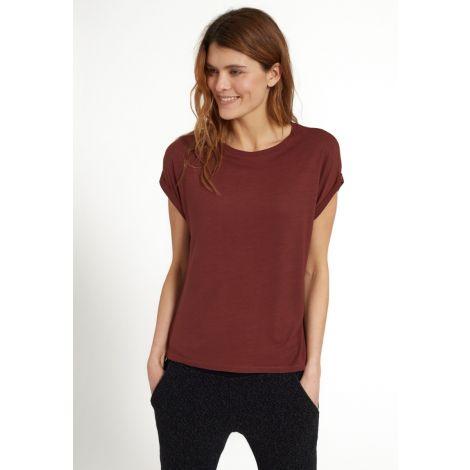 T-Shirt MONSTERA ruby red