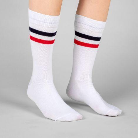 Socks Sigtuna Double Stripes White