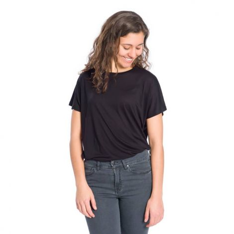 Essential T-Shirt TENCEL Ladies black