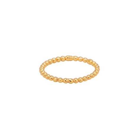 Dotty band Ring Gold