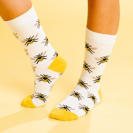 Socks Sigtuna Bumblebees White