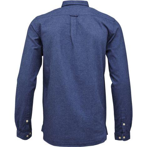 ELDER melange flannel shirt Estate Blue