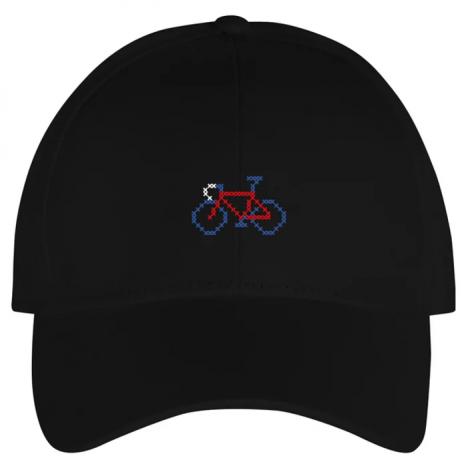Sport Cap Stitch Bike Black