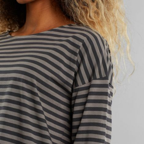 Top Humledal Stripes Charcoal