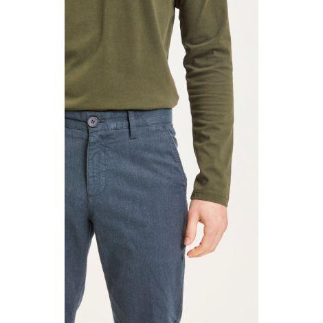 CHUCK regular flannel pant - GOTS/Vegan 1001 Total Eclipse