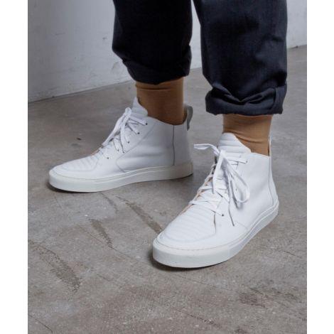 Argan Mid white leather
