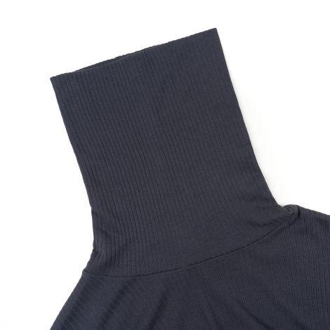 Ribber Turtleneck Dress Ladies Black