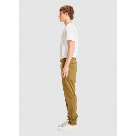 CHUCK regular stretched chino pant Burned Olive