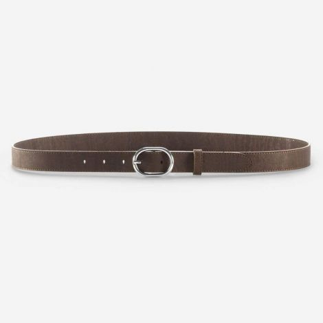 Women Cork Belt 25mm dark brown
