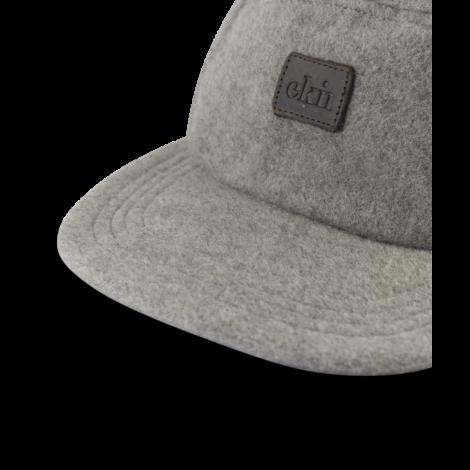 Five Panel Cap Grey Wool