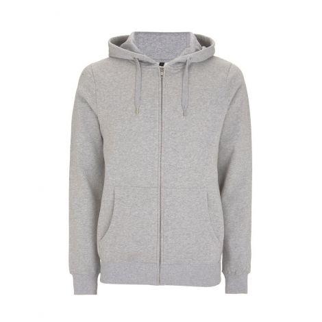 Zip-Up Hoody Melange Grey