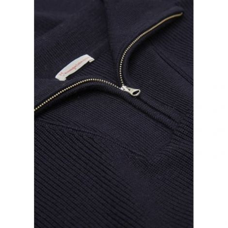 VALLEY neck zip knit Total Eclipse
