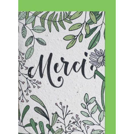 Growing Paper Card Pflanzen Merci