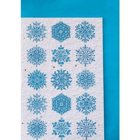 Growing Paper Snowflakes