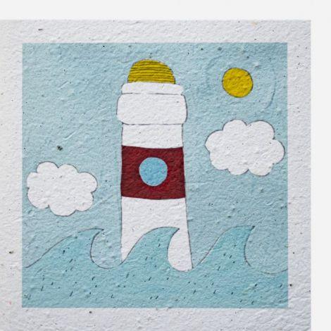 Growing Paper -Card quadrat Leuchtturm