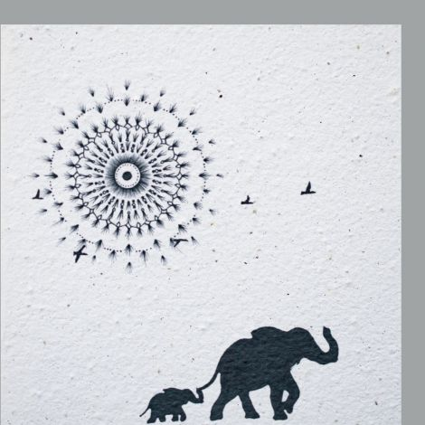 Growing Paper Mandala Sun & Elephants