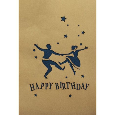 3D Pop-up Happy Birthday gold