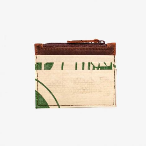 Card Holder Leather Green Light