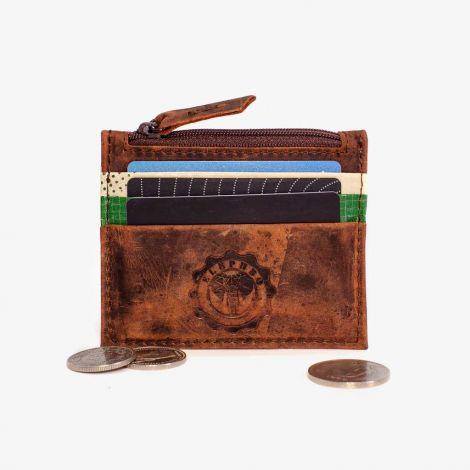 Card Holder Leather Green Medium