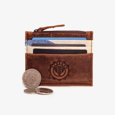 Card Holder Leather Blue Light
