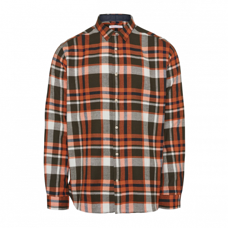 LARCH casual fit checked flannel shirt - GOTS/Vegan 1090 Forrest Night