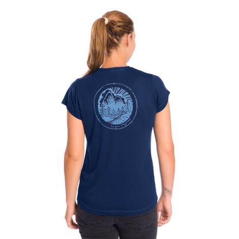 Lizardskin TENCEL T-Shirt Damen blau