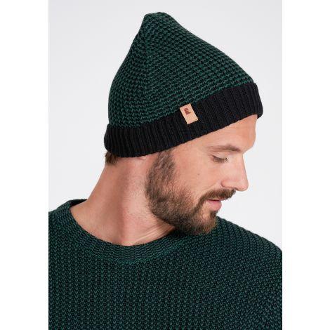 Knit Beanie #MOULINE dark eukalyptus