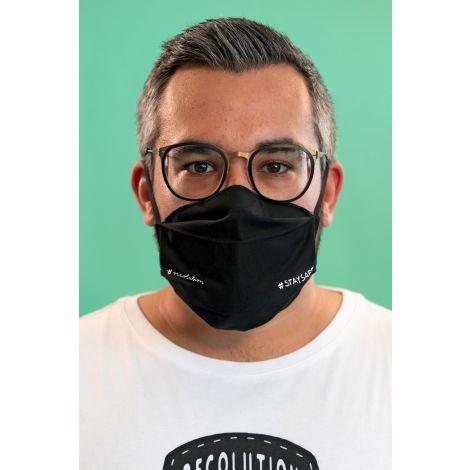 Face Mask Set of 3 #STAYSAFE black