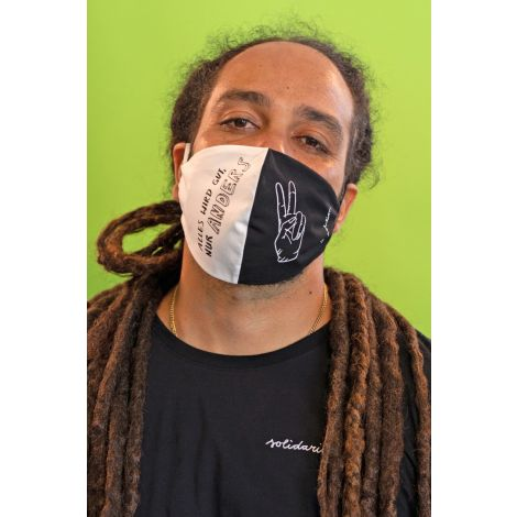 Face Mask #ALLESWIRDGUT black / white