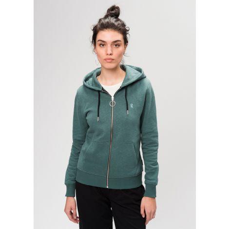 Basic Sweatjacket eukalyptus