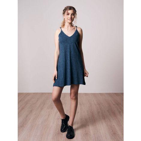 Paisley Kleid Blau