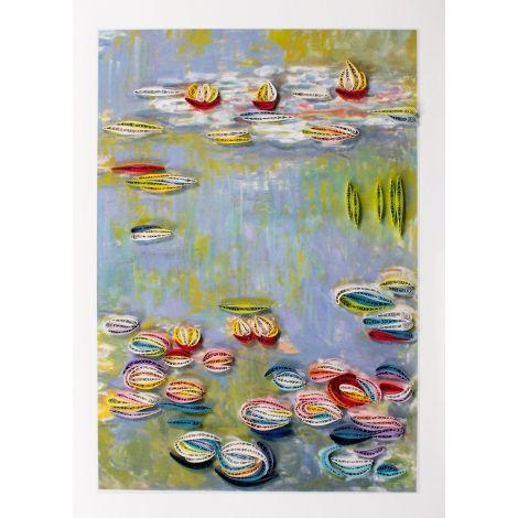 Paper Quilling Art Art Monet Seerosen