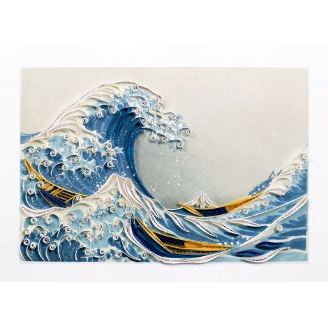 Paper Quilling Art Katsushika Hokusai die grosse Welle