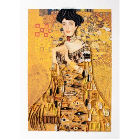 Paper Quilling Art Gustav Klimt Adele Bloch Bauer