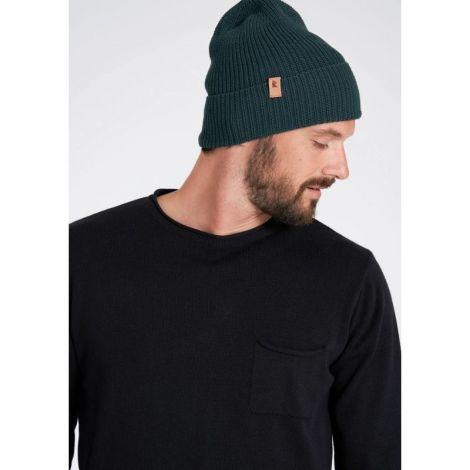 Knit Beanie dark eukalyptus