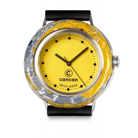 Uhr Gelbes Ziffernblatt