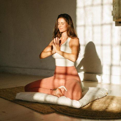 Meditationsmatte Zabuton Standard Zen-Schwarz