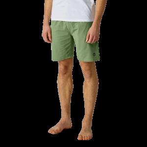 Organic Mens Yoga Short Oil Green
