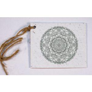 Growing Paper Geschenkanhänger Mandala Kreis