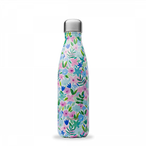 Insulated Stainless Steel Bottle Flora Blue 500ml