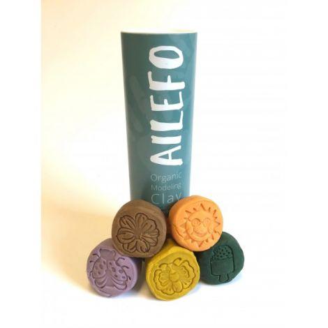 Organic Knete 5 Farben Frühling, 100gr