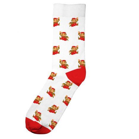 Socks Sigtuna Super Mario Pattern White