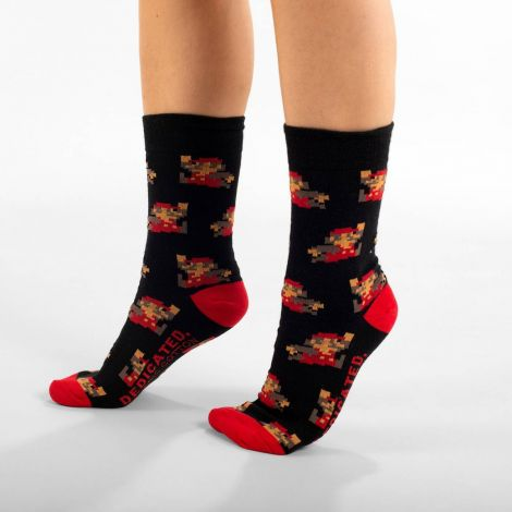 Socks Sigtuna Super Mario Pattern Black