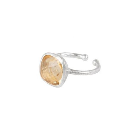 Square Cup Ring Silver