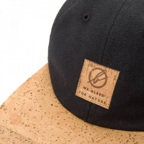 6-panel Cap black/cork