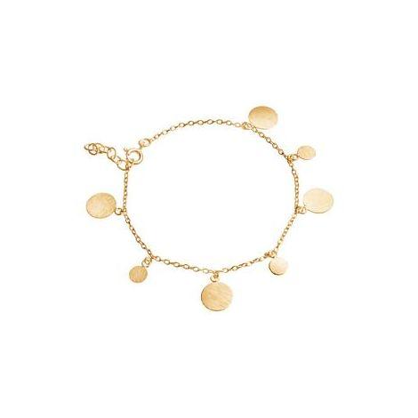 Multi-disk Bracelet Gold
