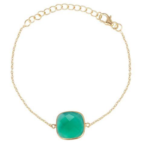 Rounded Square Bracelet Gold