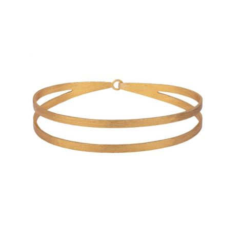 Double Band Bangle with Hook gold